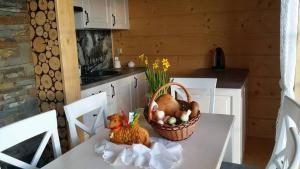 Кухня или кухненски бокс в Domki Pasja II