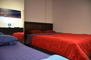 A bed or beds in a room at Luxury apartment near the center of Thessaloniki