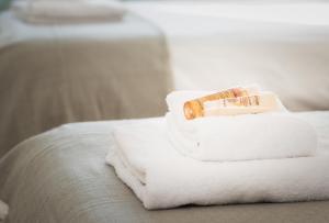 Ein Bett oder Betten in einem Zimmer der Unterkunft Eldertree Garden Holiday Home