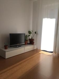 A television and/or entertainment center at new design apartment