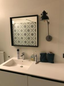 A bathroom at Private room in a shared apartment