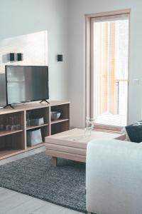 TV tai viihdekeskus majoituspaikassa Tunturinlaita D3