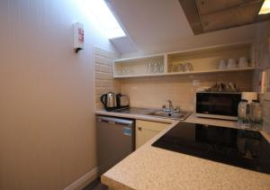 A kitchen or kitchenette at Dublin Apartments Temple Bar by theKeyCollections