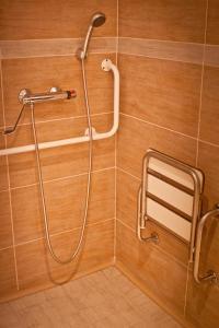 Et badeværelse på Soleil Apartman Szeged