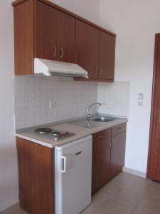 Η κουζίνα ή μικρή κουζίνα στο Kolios View Studios