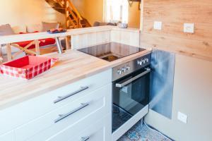 Cuisine ou kitchenette dans l'établissement Résidence des Tanneurs