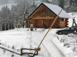 Forest Glade Cottage im Winter