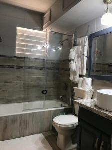 A bathroom at Oxford Manor Apartment