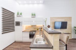 Küche/Küchenzeile in der Unterkunft Presidential Suite Spa