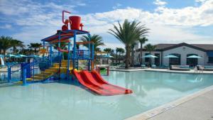 O parque aquático na villa ou nas proximidades