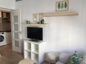 A television and/or entertainment center at Precioso Apartamento ATOCHA-RETIRO