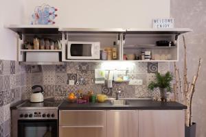 Кухня или мини-кухня в Family Apartment Čkalova