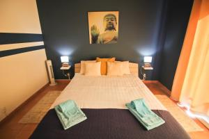 A bed or beds in a room at Quinta da Zara