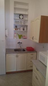 A kitchen or kitchenette at Apartmán v centru Písku