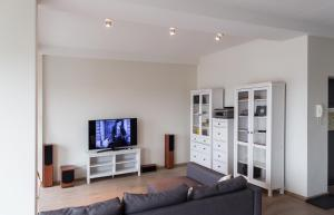 A television and/or entertainment center at Central location studio