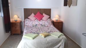 A bed or beds in a room at Fortuna leisure retreat