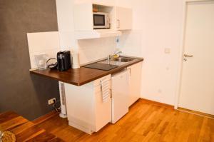 Küche/Küchenzeile in der Unterkunft Centerapartments Tonhallenstraße