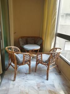 A seating area at Viccini Suites