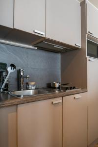 Кухня или мини-кухня в Aparthotel Adagio La Défense Esplanade