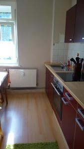 A kitchen or kitchenette at Ferienwohnung Hannah