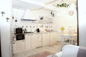 A kitchen or kitchenette at Villa Luna Lombarda