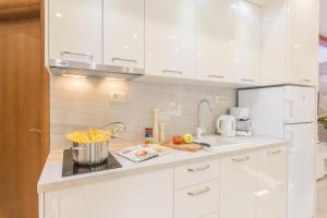A kitchen or kitchenette at Apartman Grgur