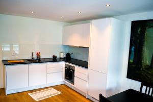 A kitchen or kitchenette at Keyforge City Apartments Waldstätterstrasse 8