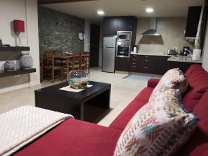 A seating area at Apartamento AGRELO