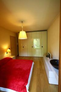 A bed or beds in a room at Appartamento Lago maggiore