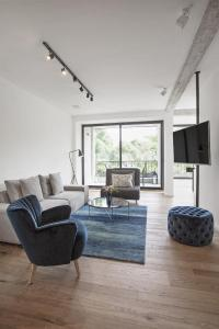 A seating area at Exclusive Holiday Rentals