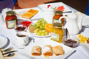 Breakfast options available to guests at Mira Mare Hotel, Galaxidi