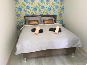 Säng eller sängar i ett rum på Follow the river!