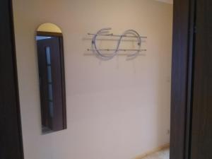 A bathroom at Apartamenty W Rostkach