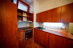 Dapur atau dapur kecil di Moskevska Apartment - 3 bedrooms with King size beds
