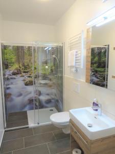 A bathroom at Hotel Dachsteinresort