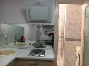 Кухня или мини-кухня в Apartment u Kamina