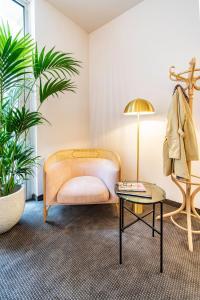 Кът за сядане в Starlight Suiten Hotel Renngasse
