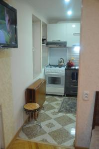 A kitchen or kitchenette at Apartment Kutaisi L&l