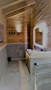 A bathroom at Chalet on the Lake