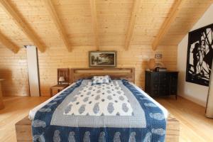 Кровать или кровати в номере Cottage in Prague