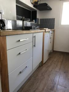 A kitchen or kitchenette at F2 Centre - Gare