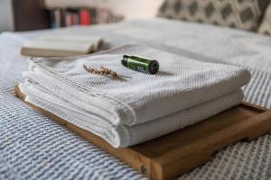 Ein Bett oder Betten in einem Zimmer der Unterkunft CosyCocoon