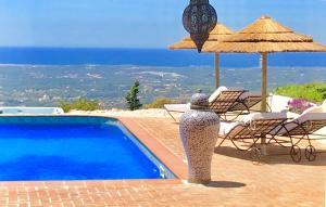 Het zwembad bij of vlak bij Monte Borboleta