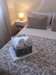 A bed or beds in a room at Villa Sky