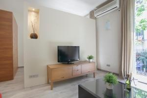 A television and/or entertainment center at Tendency Apartments 7