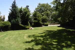 A garden outside Villa Serz