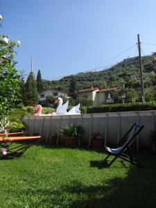 A garden outside villa Giada