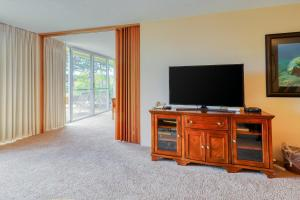 A television and/or entertainment center at Maui Kaanapali Villas 208 - 1 Bed 1 Bath Apartment in Maui Kaanapali Villas