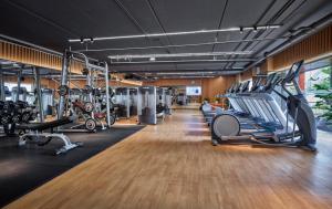 Fitness centrum a/nebo fitness zařízení v ubytování Fraser Suites Hanoi
