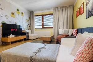 Гостиная зона в Prague deluxe apartment
